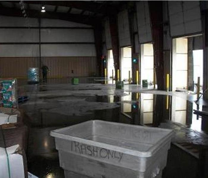 Commercial Warehouse Water Problems in Cypress Before